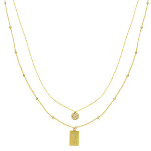 Gouden kettinkje Elizabeth Necklace Gold